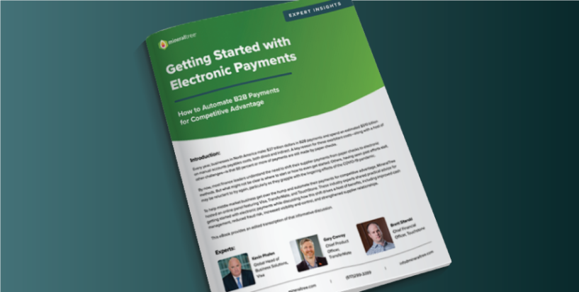 getting started with electronic payments