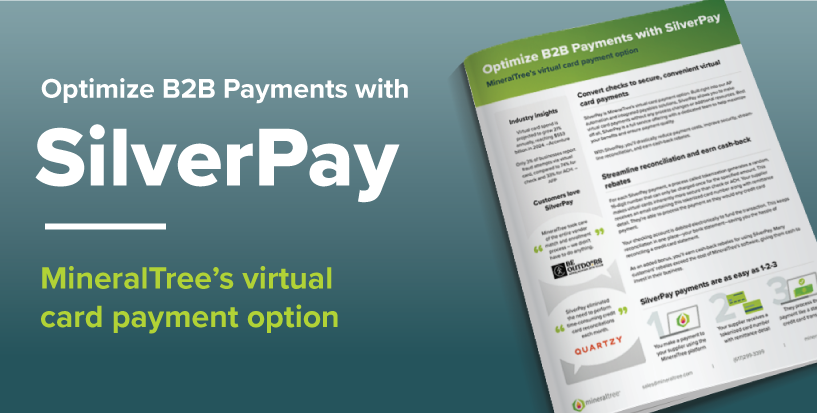 SilverPay MineralTree's Virtual Card Payment Option