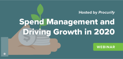 Spend Management and Driving Growth in 2020 Webinar